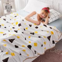 法兰绒毛毯被子薄款空调毯子单人薄珊瑚绒盖毯毛巾被双人午睡毯