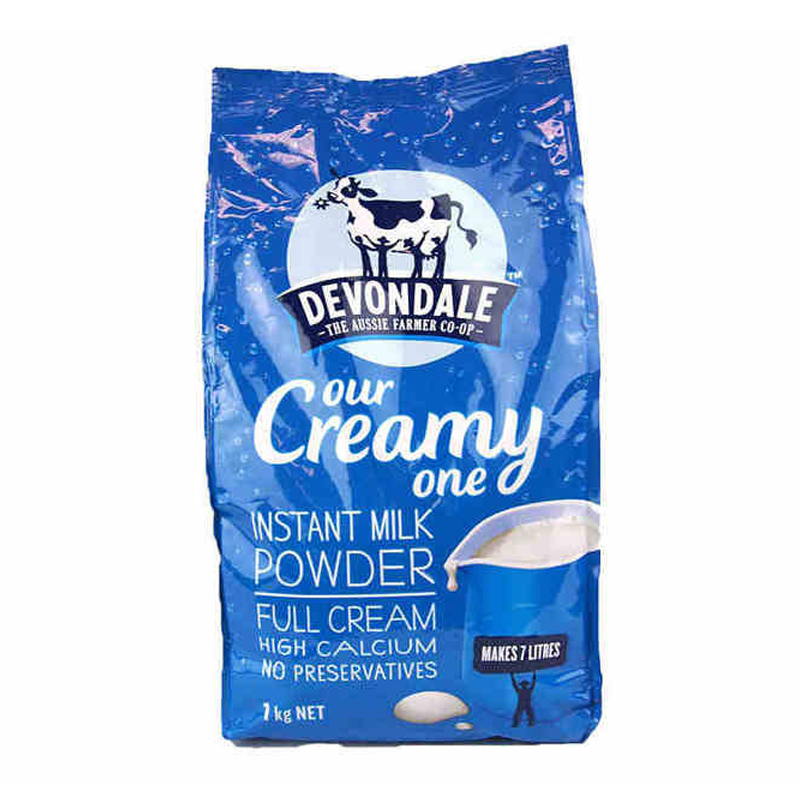 【当当海外购】澳洲进口牛奶 德运 Devondale 全脂成人奶粉 1kg 日期新鲜澳洲总理点赞的好奶粉
