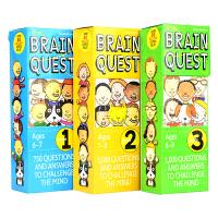 Brain Quest Grade 1-3 美国学前知识卡片 大脑任务1-3年级套装 儿童英文原版进口图书 BQ问答卡