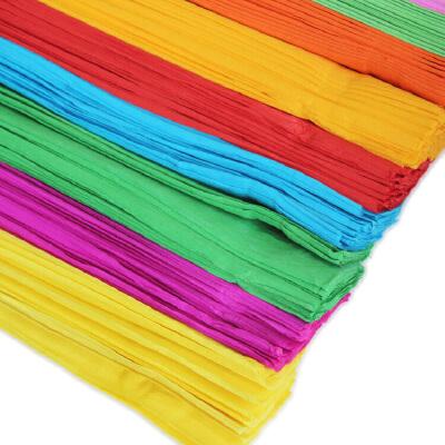 彩色皱纹纸100张/包 幼儿园布置手工diy皱纸折花纸手揉纸 褶皱纸