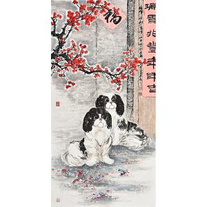 当代画家杨怀山138 X 70CM花鸟画gh02244