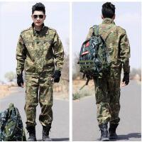 男作训服套装 加大码修身长袖 户外军绿迷彩服101空降师套装男 特种兵作训服军装军迷服装