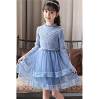 女童秋冬装连衣裙小学生女孩公主裙子洋气衣服时髦