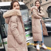 女中长款冬季新款棉袄ins面包服过膝宽松bf羽绒棉衣刺绣外套