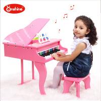 益智早教儿童仿真钢琴 30键高档小钢琴木质乐器 带琴谱