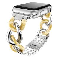 新款苹果Apple watch手表iwatch1/2/3/4代 带 镶石金属钢带 配件