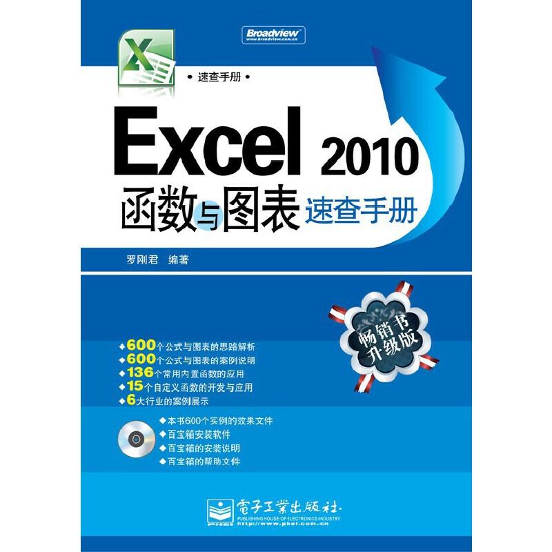 VIP——Excel 2010函数与图表速查手册(含CD光盘1张)(双色)