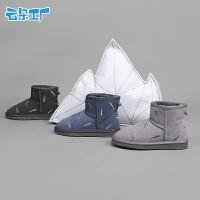 冬季保暖靴子女生短筒雪地靴刺绣短款雪地靴