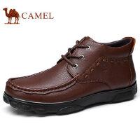 camel 骆驼男鞋 冬季新品商务休闲套脚牛皮皮鞋休闲鞋皮鞋男