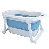 婴儿洗澡盆儿童洗澡桶新生宝宝浴盆桶家用游泳大号可折叠感温坐躺