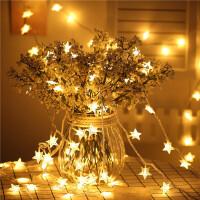 LED灯小彩灯 春节满天星闪灯直播网红灯 节日圣诞节房间布置挂墙装饰小灯 暖白色串灯3米20灯电池