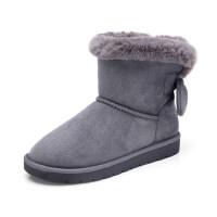 骆驼牌女鞋2017冬季新款细致舒适雪地靴减压防滑经典百搭女靴