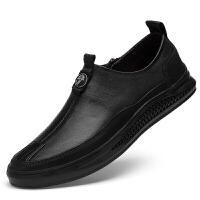 野图品牌男鞋夏春季新款2019个性潮男鞋时尚潮流韩版个性青年皮鞋百搭软底一脚蹬