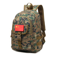 新款双肩包 迷彩大容量旅行防水背包部队用书包旅行包牛津布迷彩包
