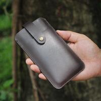 黑莓KEY TWO手机套直插套keyone保护套内胆包皮套 裸机版 黑色 双层带扣款