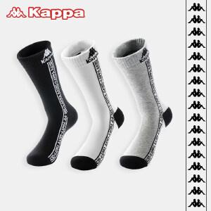 Kappa/卡帕(3双装)男士透气休闲创意潮流棉袜子KP8W22