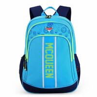 迪士尼男童背包 0022蓝色男孩书包 校园休闲双肩包 带反光条