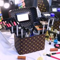 手提化妆箱女大容量收纳包化妆师跟妆包大号多功能便携化妆包