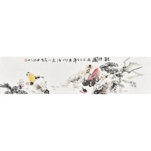 当代画家梁煜136 X 35CM人物画gr01453