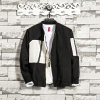 春装新品男款长袖立领夹克青少年韩版立领男装休闲百搭外套男