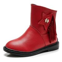 2017女童靴子春秋新款英伦儿童马丁靴儿童短靴公主单靴百搭冬
