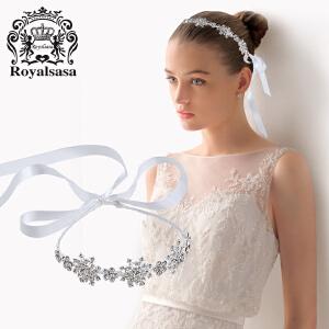 皇家莎莎新娘头饰发箍发带女欧美时尚简约仿水晶皇冠结婚礼发饰品