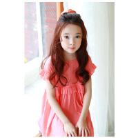 韩版童装女童童裙夏装新品公主裙中大童连衣裙