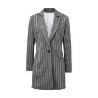 美特斯邦威大衣女士春秋装经典都市复古风中长款针织呢料大衣韩