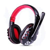 J22 降噪蓝牙耳机无线(头戴式电脑游戏电竞 吃鸡7.1笔记本台式 带长麦话筒) 黑红