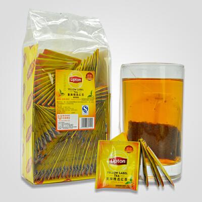 Lipton/立顿红茶包 黄牌精选红茶160g(铝箔装) 袋泡茶2gX80袋 【官方授权】正品保障 日期新鲜