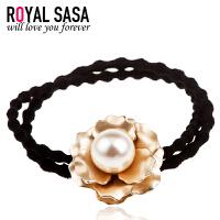 皇家莎莎RoyalSaSa发饰瑞丽精美可爱花朵人造珍珠发圈发绳弹力百搭皮筋头绳HFS509395