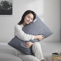 棉简约织标枕套 纯棉枕头套枕袋枕皮棉枕芯套子一对装 48cmX74cm