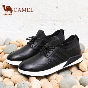骆驼牌男鞋 新品简约时尚运动休闲男鞋柔软运动风低帮鞋