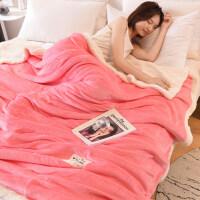 毛毯被子加厚冬季珊瑚绒毯子法兰绒午睡床单厚款保暖单人宿舍学生 200cmx230cm 柔软加厚