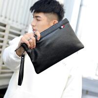 男士手包商务休闲韩版手抓包 新款时尚青年手包男包 韩版皮质手拿包包