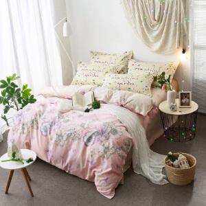 秋冬简约纯棉四件套 全棉床上用品单双人床单被套1.8m/2.0m