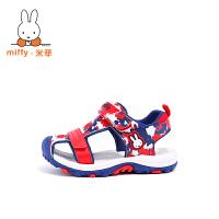 MIffy米菲儿童凉鞋男童2017夏季新款童鞋女童男孩宝宝包头沙滩鞋