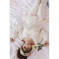睡衣女秋季纯棉长袖韩版甜美可爱清新家居服套装宽松学生春秋