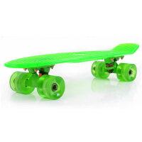 小鱼板儿童滑板刷街闪光轮大鱼板磨砂大轮单翘滑板四轮滑板车成人