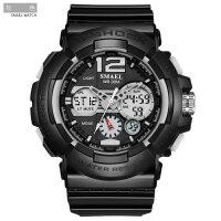 斯麦尔(SMAEL) 手表 双显电子手表 户外运动登山手表LED男女手表