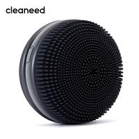 cleaneed 洁面仪 硅胶电动毛孔清洁去黑头美容按摩洗脸仪 深层净透 迪丽热巴同款 马卡龙系 黑加仑