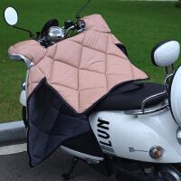电动车挡风被 冬季电瓶车挡风罩摩托车冬天防晒防风被保暖加绒加厚
