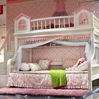 儿童上下床新款加密高低床上下铺双层床蚊帐家用12米15