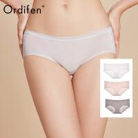【2件3折后价:65元】欧迪芬O+内裤女女士低腰提臀纯色三角裤莫代尔舒适组合3条装PK0A01