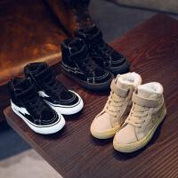 儿童棉鞋男童女童鞋中大童冬季保暖休闲二棉短靴