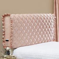 御目 床头罩 欧式皮床布艺软包实木床头套加厚防尘罩床保护套靠背套家居床上用品