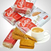 促销 lotus和情缤咖时焦糖饼干124gX3包 酥性糕点零食