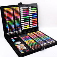儿童绘画套装小学生画画工具画笔套装无毒蜡笔彩色笔水彩画笔彩笔画画笔幼儿园男女孩美术用品水彩笔套装礼盒