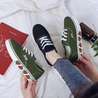 2019春款鞋子潮鞋帆布鞋板鞋学生韩版基础平底百搭透气夏尚步