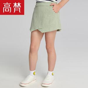 高梵 时尚休闲短裤女童夏 2018新款纯棉运动宽松儿童裤子薄款潮